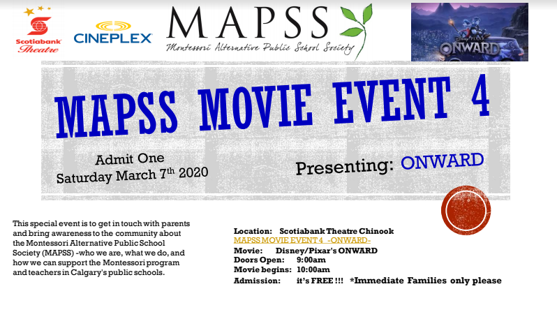 March movie night with MAPSS